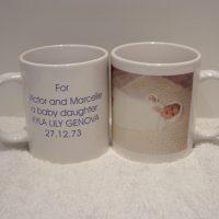 Godparents/Baby Birth Details/Photo Mug