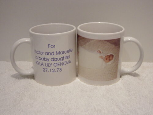 Godparents/Baby Birth Details/Photo Mug