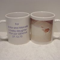 Grandparents/Baby Birth Details/Photo Mug