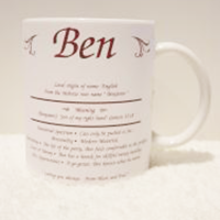 Personalised Name Meaning Mug