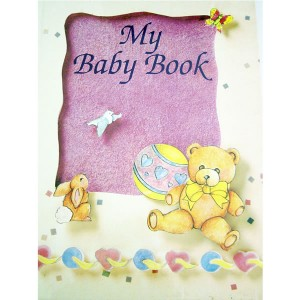 personalised baby diary book