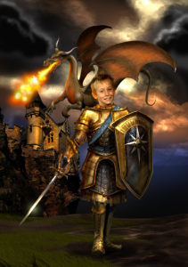 personalised photo dragon slayer