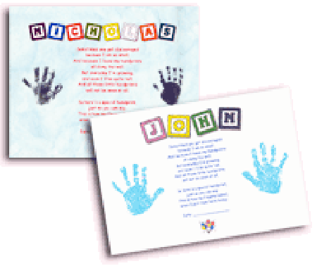 Name Poem With Handprints