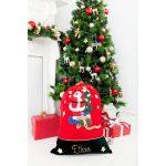 personalised santa sack tree