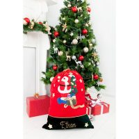 personalised santa sack tree