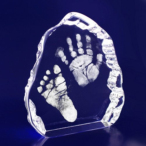 Personalised Handprints/Footprints Crystal Display
