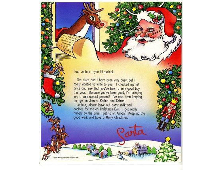 Personalised Santa Letter A Surprise For Any Child To