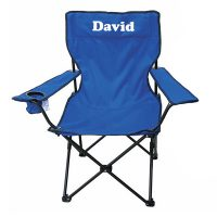 Personalised Camp Chair Adult Blue