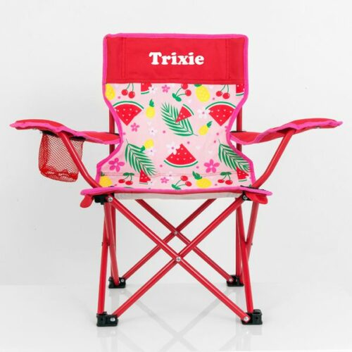 personalised camp chair girls