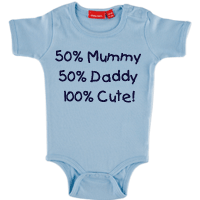 Personalised Baby Body Suit Onsie Short Sleeve