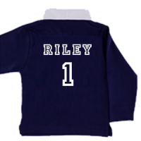 personalised kids rugby shirt