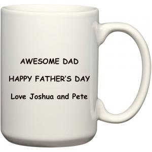 personalised fathers day coffee mug