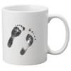 Personalised mug handprints footprints