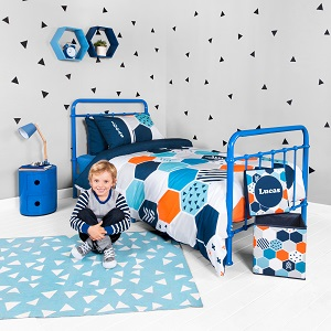 personalised boys quilt cover