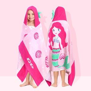 personalised hooded beach towels