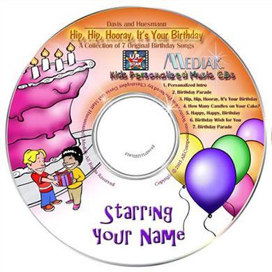 personalised childrens music cd