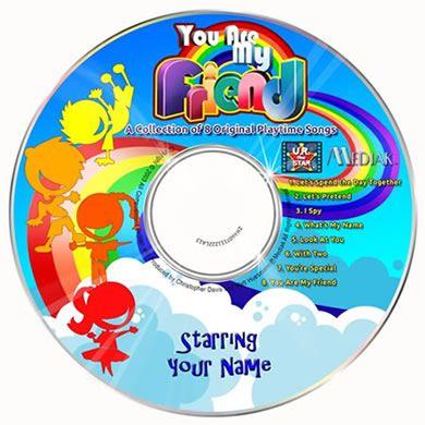 personalised music cd kids