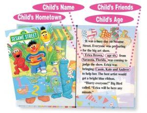 sesame street personalised book