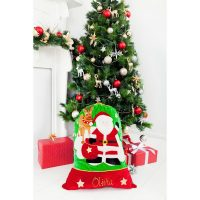 personalised santa sack reindeer