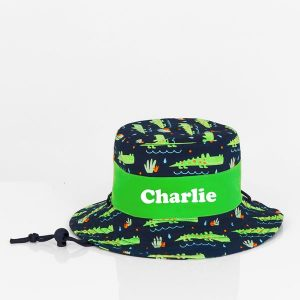 personalised sun hat crocodile