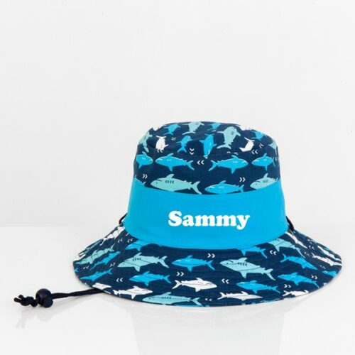 personalised sun hat shark