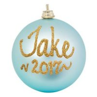 personalised christmas baubles blue