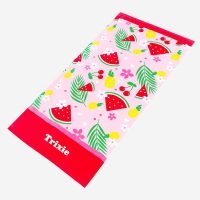 personalised girls beach towel