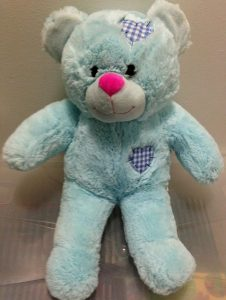 personalised recordable teddy blue