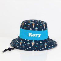 personalised sun hat boys
