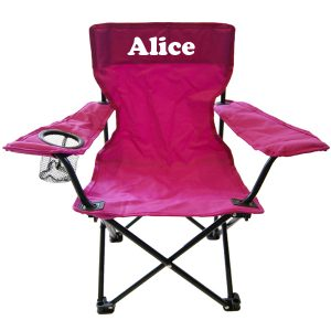 camp chair child pink
