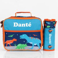 dinosaur personalised lunch box