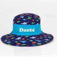 dinosaur personalised sun hat