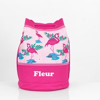 personalised flamingo swim bag
