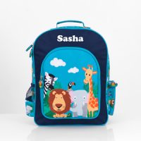 Personalised Backpack Boys Safari