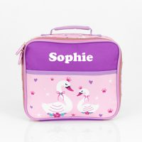 swan girls personalised lunch box