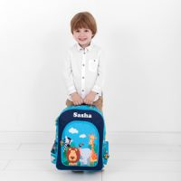 boys safari backpack with name