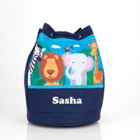boys personalised swim bag