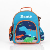 personalised preschool backpacks dinosaur