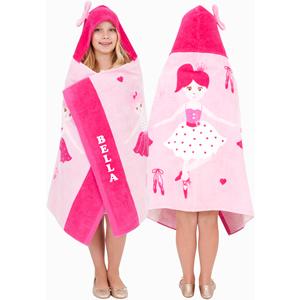 personalised balleina hooded towels