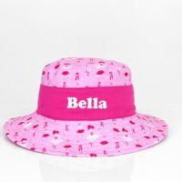 personalised girls sun hat