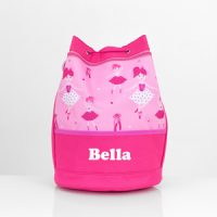 personalised ballerina swim bag