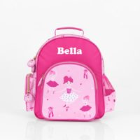 personalised ballerina girls backpack