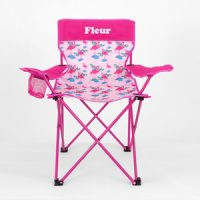 personalised flamingo camp chair