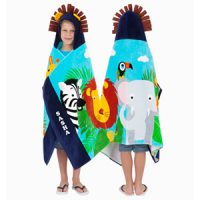 personalised safari hooded towel