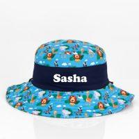 personalised safari sun hat