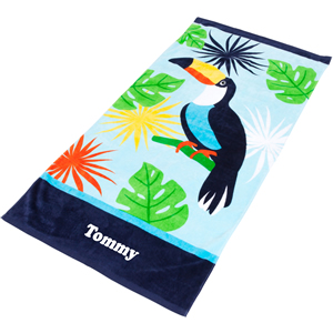 personalised biys beach towel