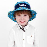 personalised boys sun hat