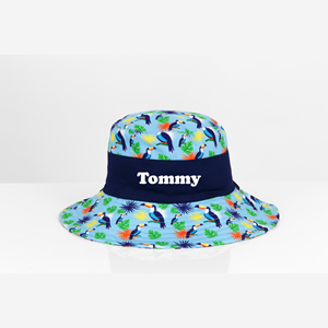 personalised boys toucan sun hat