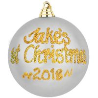 personalised 1st christmas baubles silver