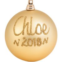 personalised christmas baubles gold